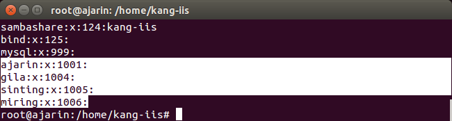 Perintah Linux - Fungsi cat