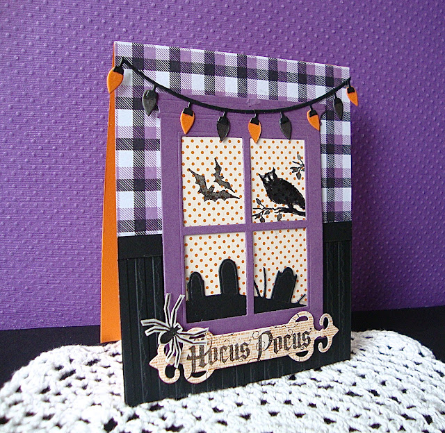 Waltzingmouse stamps Halloween Party, Hocus Pocus, Madison Grand Window