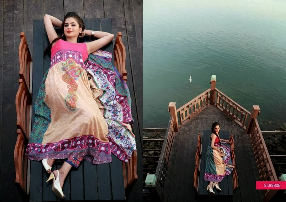 Three Piece Summer Lawn Suits By Libas