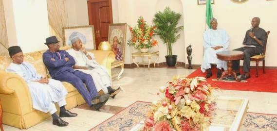 General Muhammadu Visits Governor Fashola