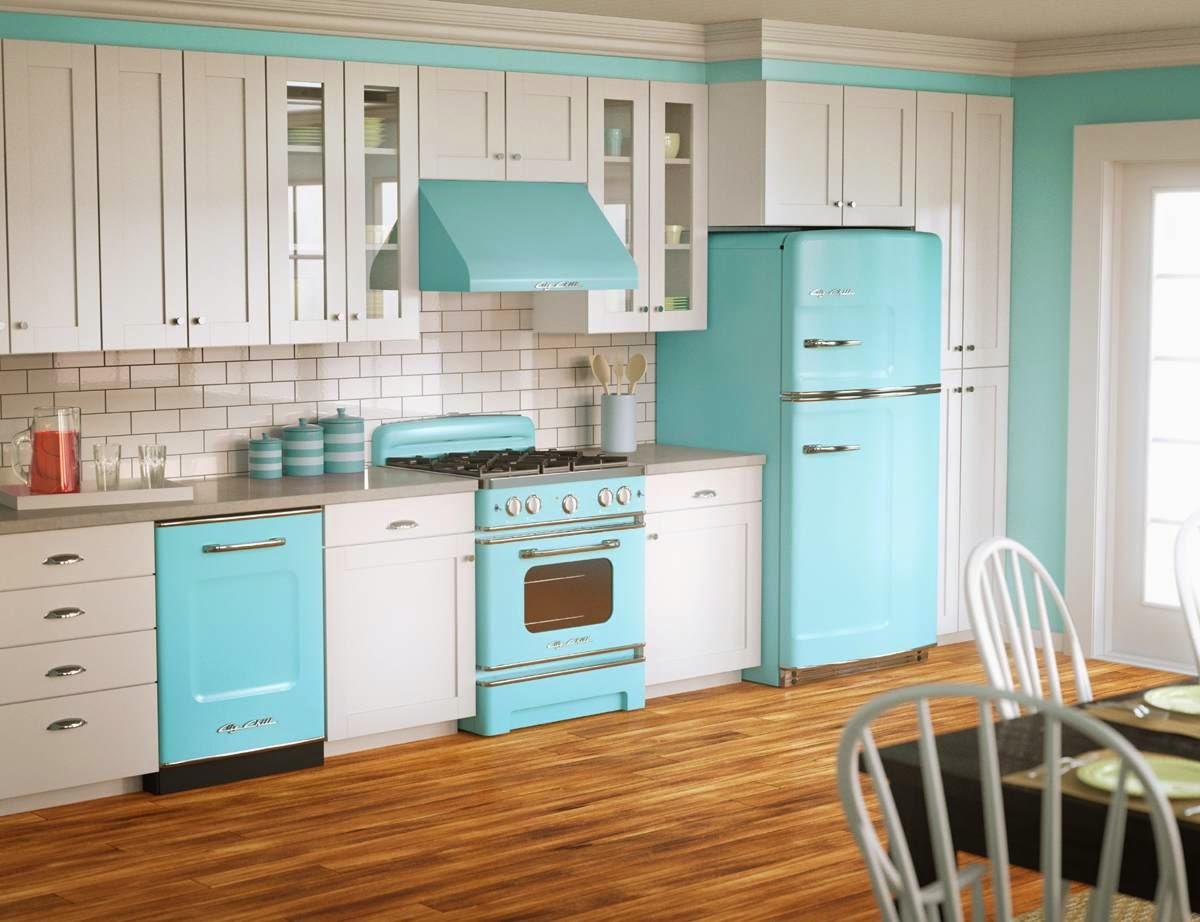 kuchnia błękit niebieski