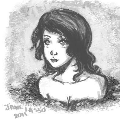 Sketch de mujer en photoshop