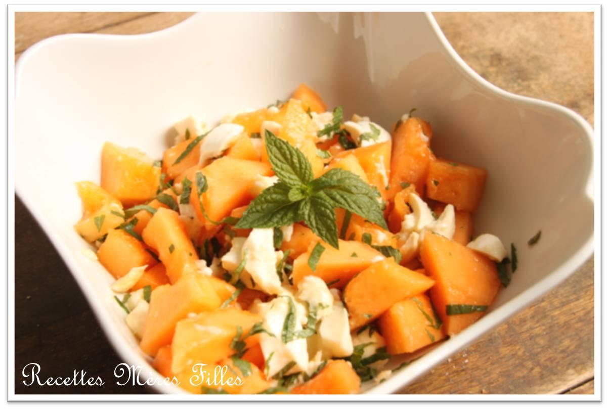 La Recette Melon Salade Melon Mozzarella Menthe