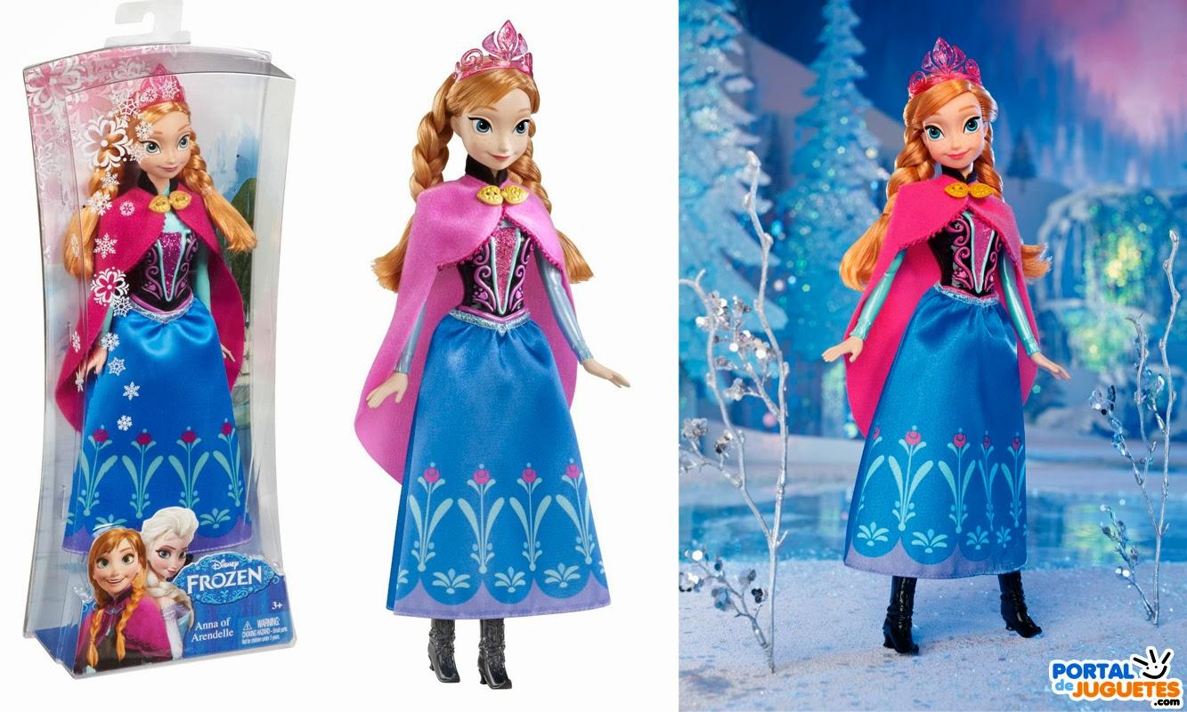 muñeca anna purpurina frozen mattel caja