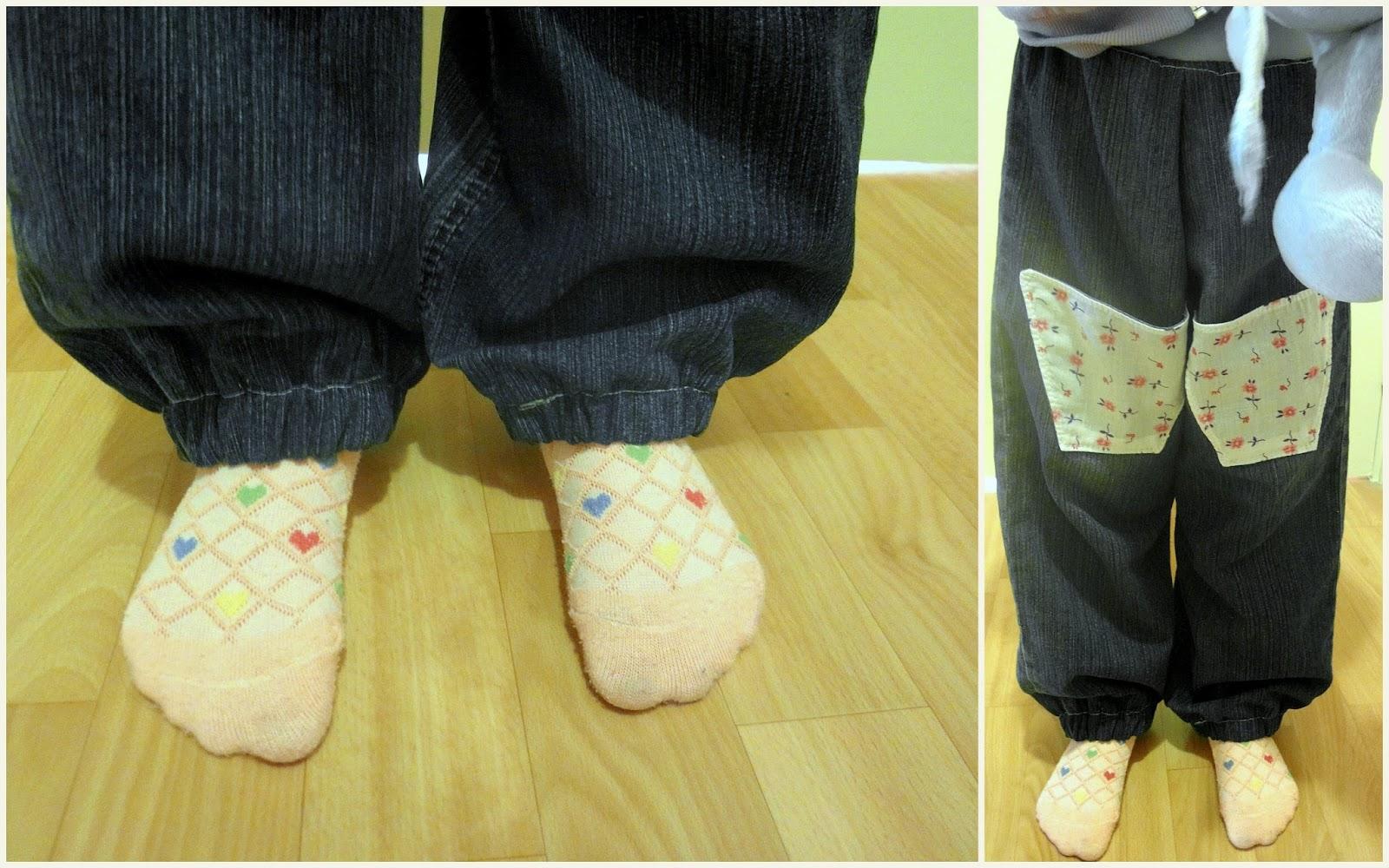 Как сделать резинку внизу брюк