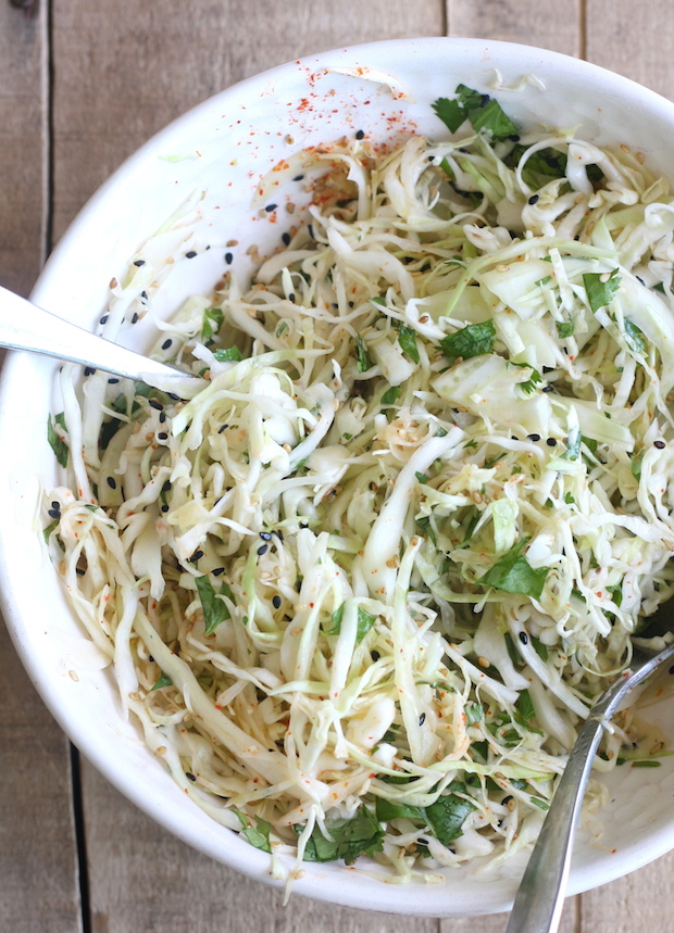 Asian-style Cabbage-Fennel Coleslaw by SeasonWithSpice.com