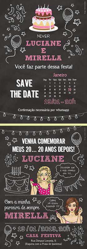 """""""Save the date"""" e convite para aniversário"""