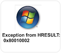 Exception from HRESULT: 0x80010002 error