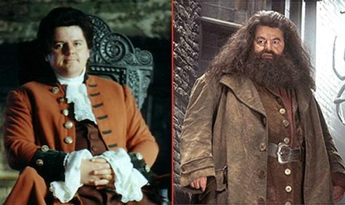 Robbie+Coltrane+ +R%C3%BAbeo+Hagrid+Sai+Chul%C3%A9 Atores do Harry Potter quando eram mais jovens