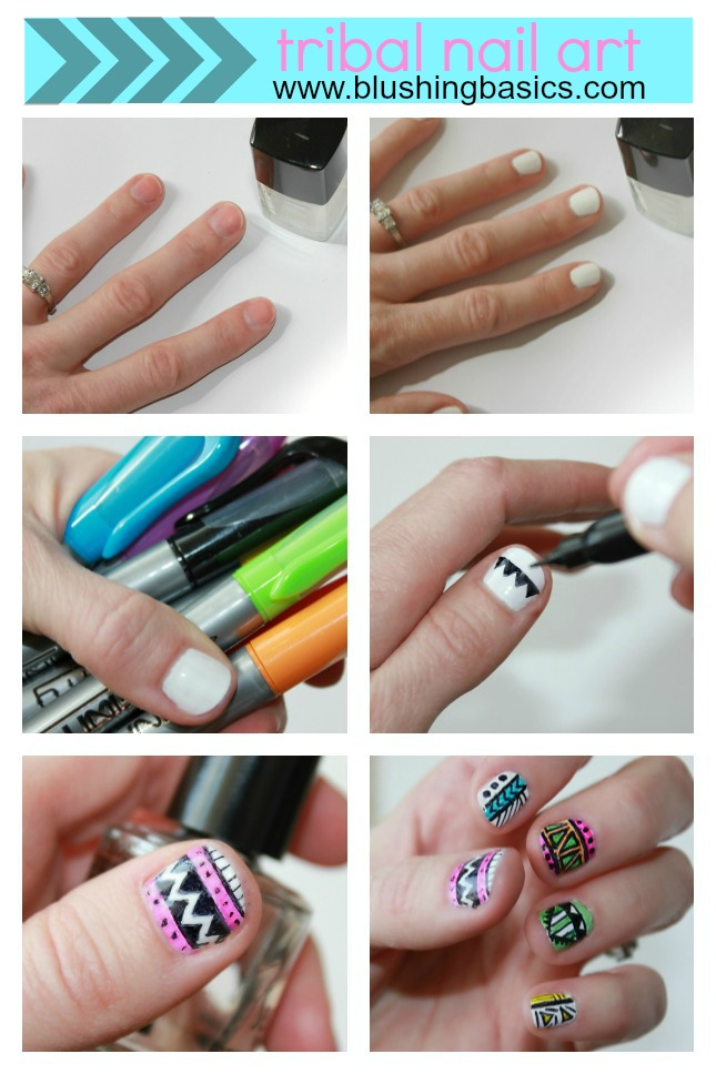 blushing basics: Tribal Nail Art Tutorial