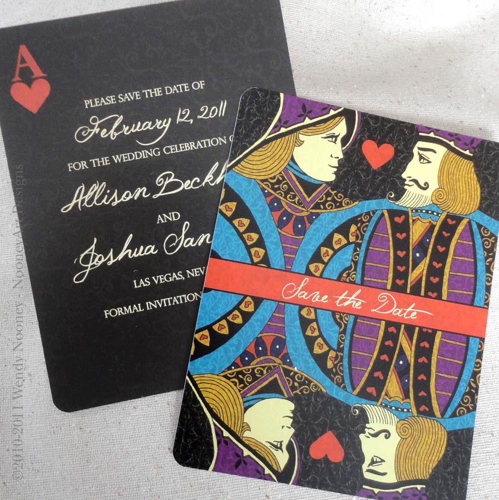 las vegas wedding invitations Las Vegas Wedding Playing Card Wedding Invitations and Save The Dates