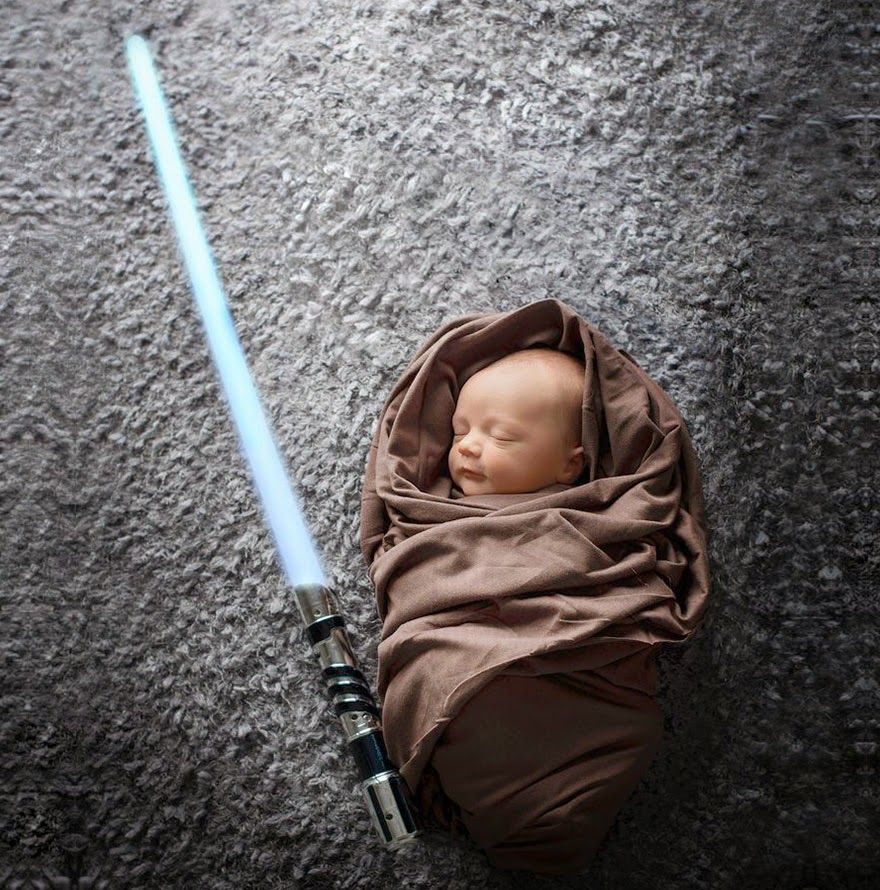 #5 Baby Star Wars Jedi - 22 Geeky Newborns Who Are Following In Their Parents' Nerdy Footsteps