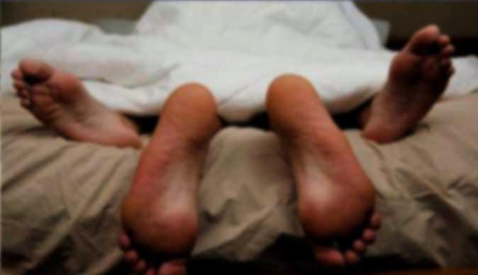 Wife loves foot sex