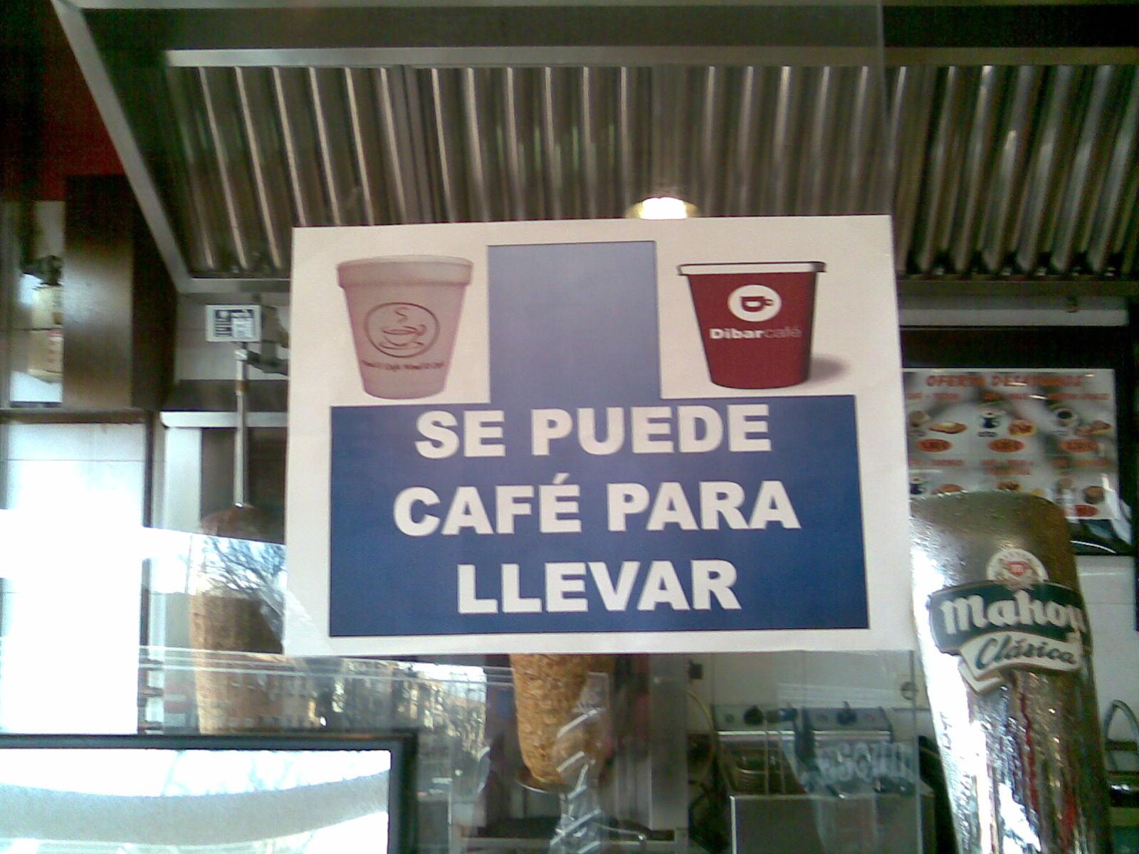 Be what you see caf para llevar for Cafe para llevar