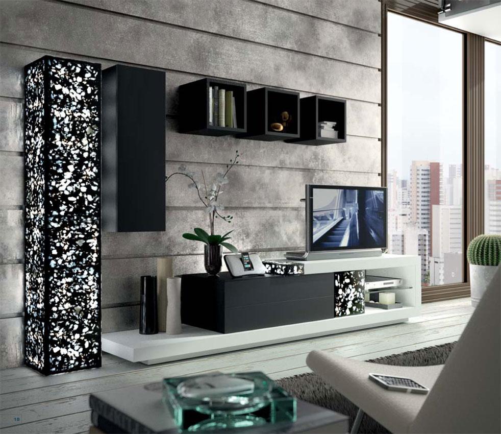 Muebles y decoracion de interiores sal n con luz - Decoracion columnas salon ...