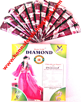 Diamond reddish henna cones