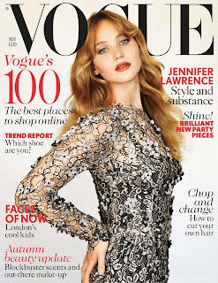 Jennifer Lawrence looks great on the November 2012 cover of Vogue magazine  UK
