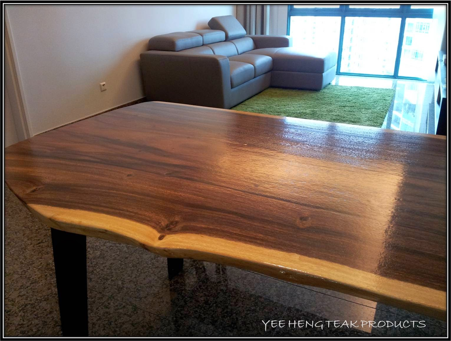 The thickness is about 2 inch which is sturdy and lighter as compared to those big live edge table. Just in case you needed to create space for the extra ...