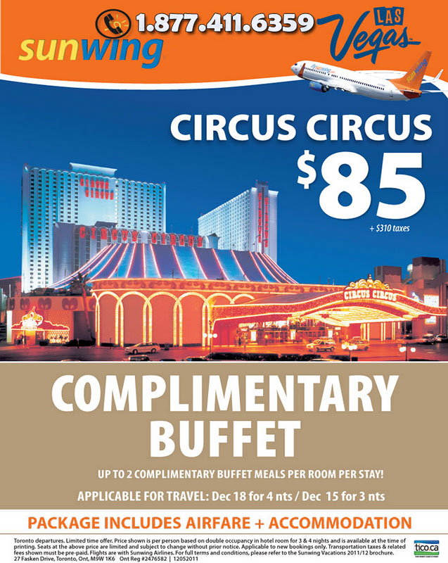 Circus Buffet. Traditional Las Vegas Buffet with all your favorites for brunch and dinner including salad bar, carving station, American and International favorites, all-you-can-eat fried shrimp and decadent desserts. Kids under 4 always eat free with a paying loweredlate.ml Reservations: Yes.