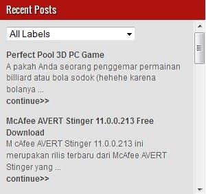 Recent Posts Widget Dengan Label Disertai Title Link