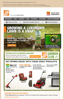 Mar. 8, 2012 Home Depot email