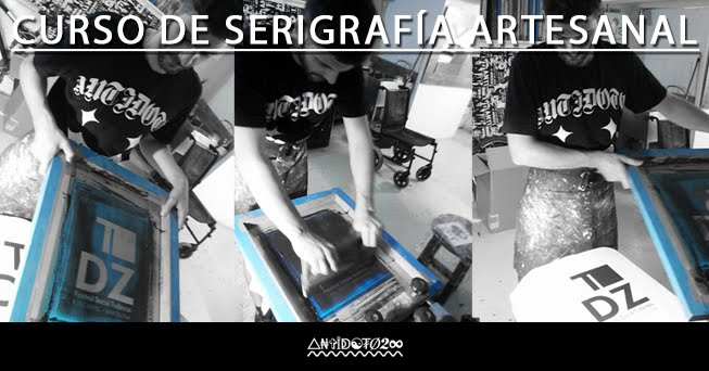 CURSO TALLER DE SERIGRAFIA ARTESANAL BCN. DIY.