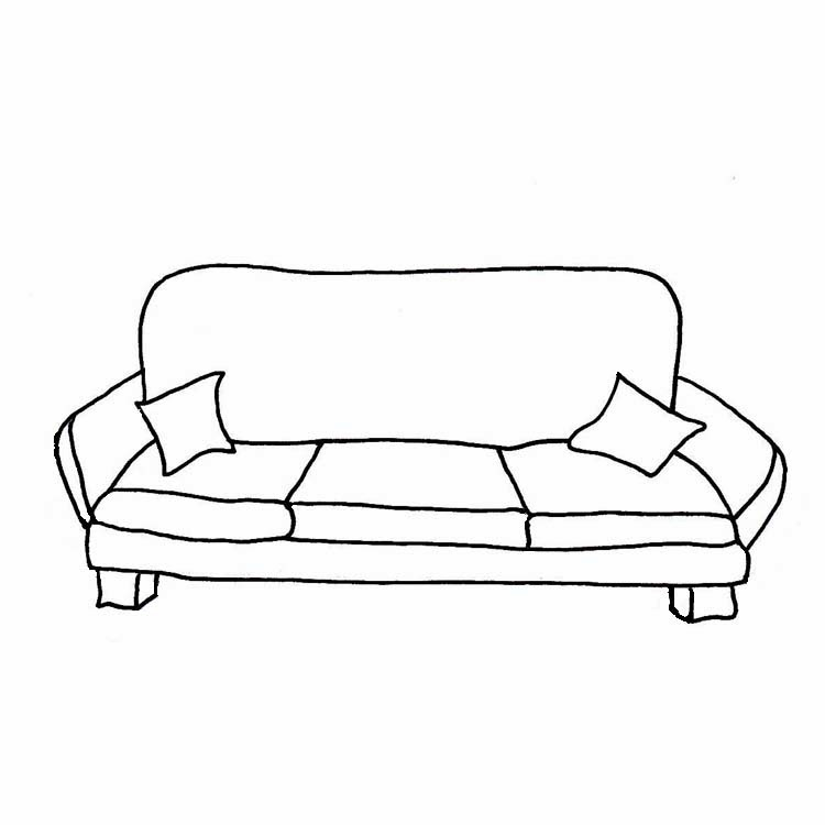 Couch clipart black and white home design jobs for Sofa clipart