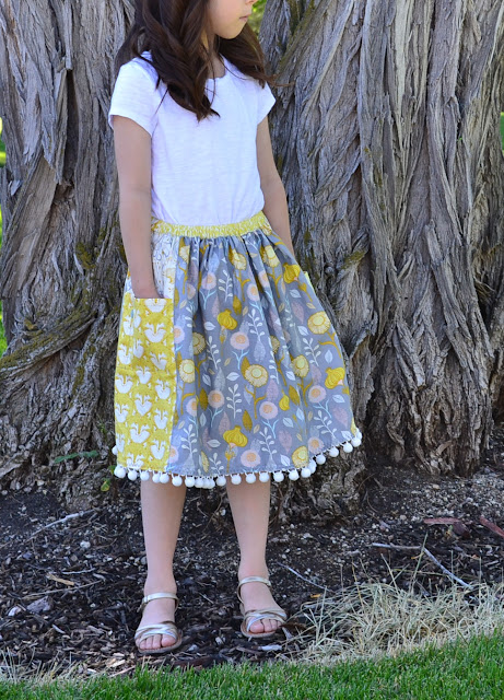 how to sew skirts with pockets