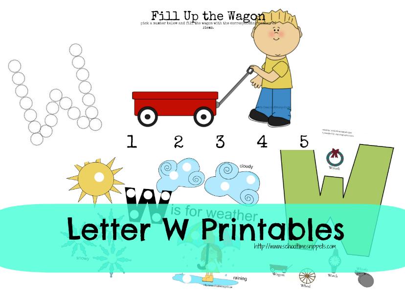 letter w toddler printables