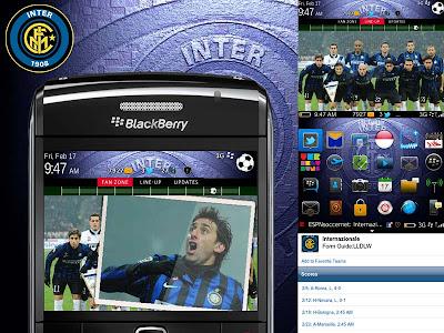 Theme Inter Milan for BlackBerry