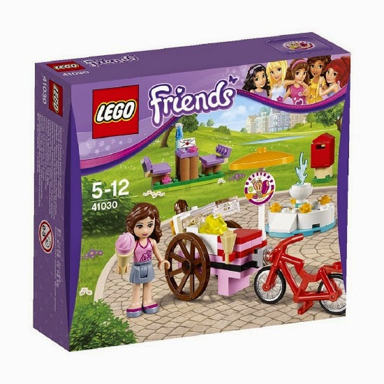 TOYS - LEGO Friends  41030 La bicicleta de los helados de Olivia : Heartlake City  Olivia's Ice Cream Bike  Producto Oficial | Edad: 5-12 años