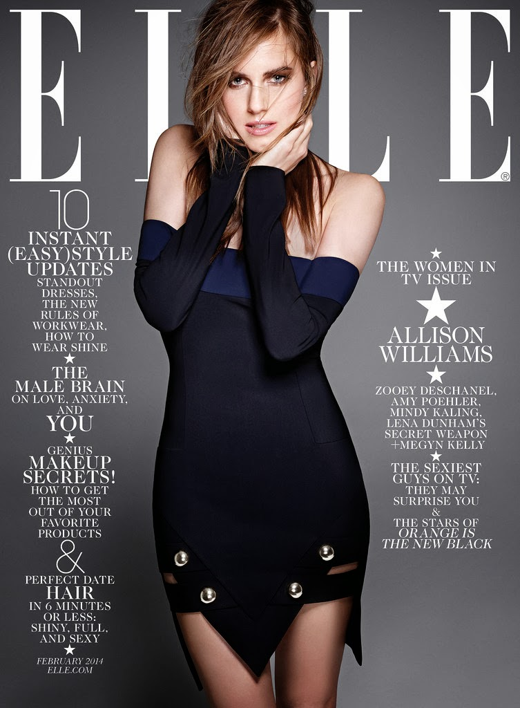 Women in TV Allison Williams Elle US Magazine Cover January 2014 HQ Scans