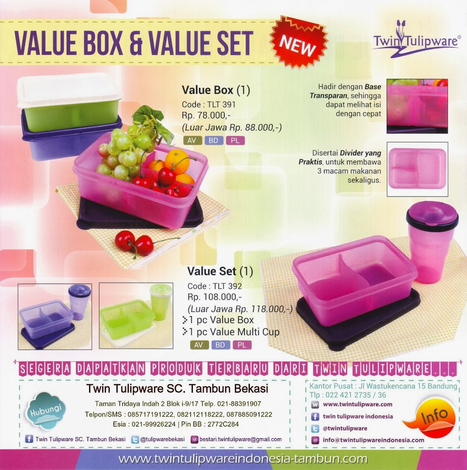 Produk Baru Tulipware 2014, Value Box, Value Set