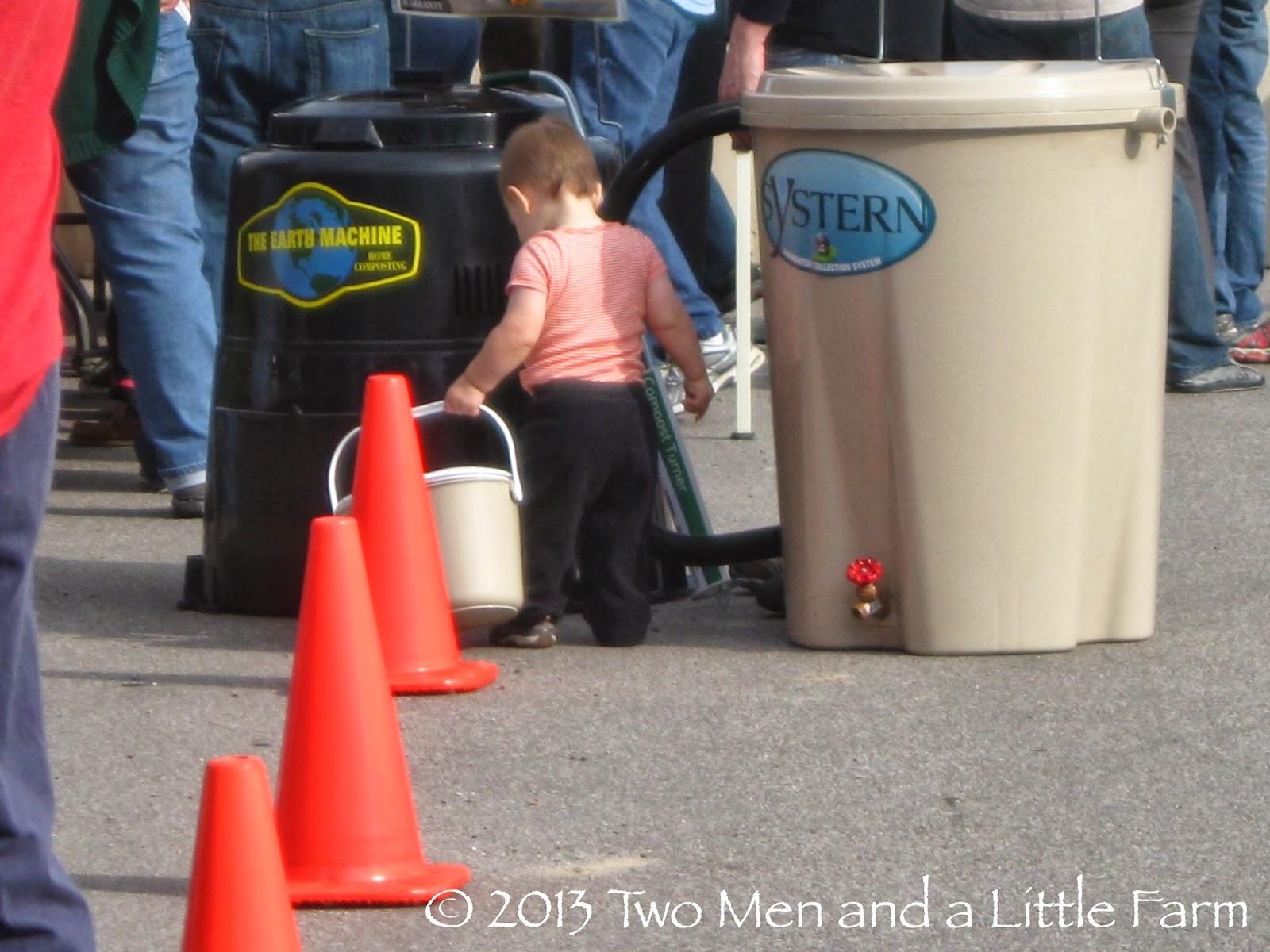 two men and a little farm: houston rain barrel and compost bin sale