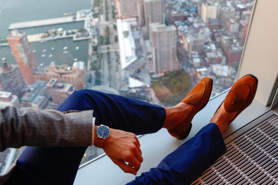 Levitate Style, Menswear, Bonobo, Italian Knit Blazer, One World Trade Center