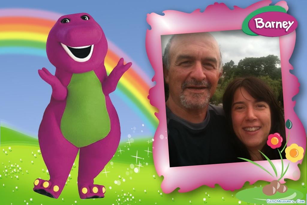 Barney y sus amigos: Marco para fotos digitales con Barney