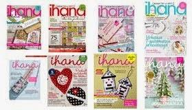 Ihana-lehtiä, joissa kirjainprojektejani on esitelty