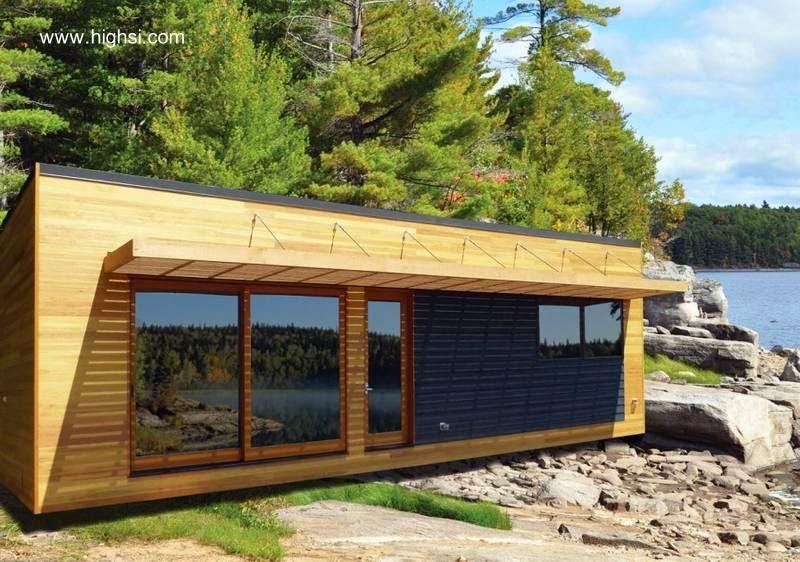 Casa de madera contemporánea