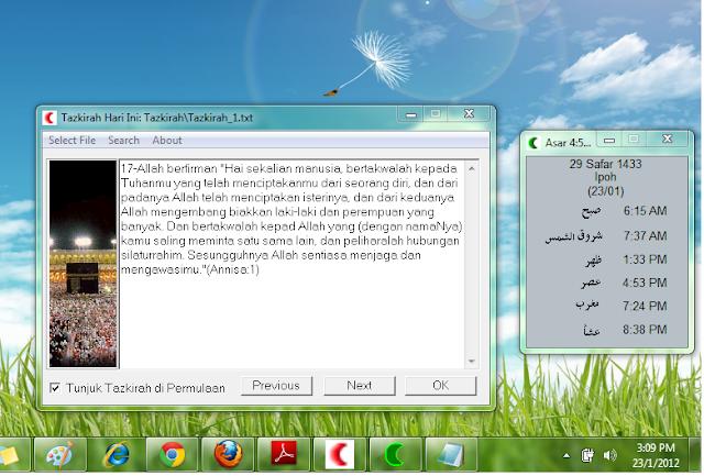 Program Waktu Solat 13 di desktop