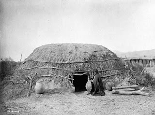 Pima Ki [primitive home] Edward S Curtis