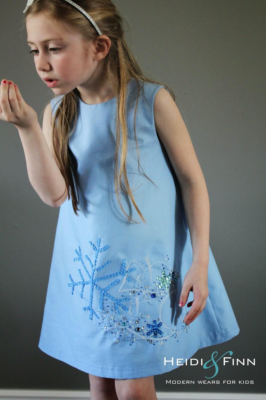 Heidiandfinn modern wears for kids let it go frozen inspired dress a mouse house creation pattern