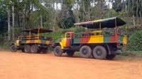 RUSSIAN TRUCKS IN ESCAMBRAY MOUNTAINS