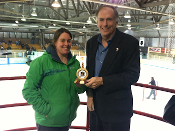First Puck Presented to Parks Czar Erin Gardner