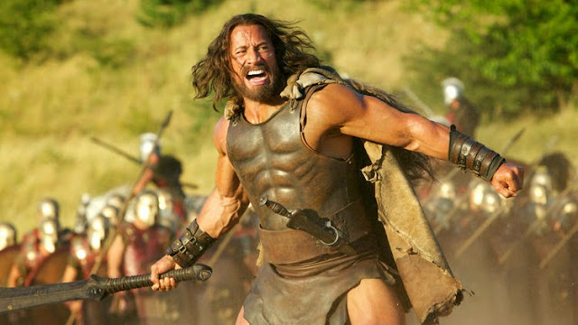 Dwayne Johnson The Rock as Hercules 2014 movie still