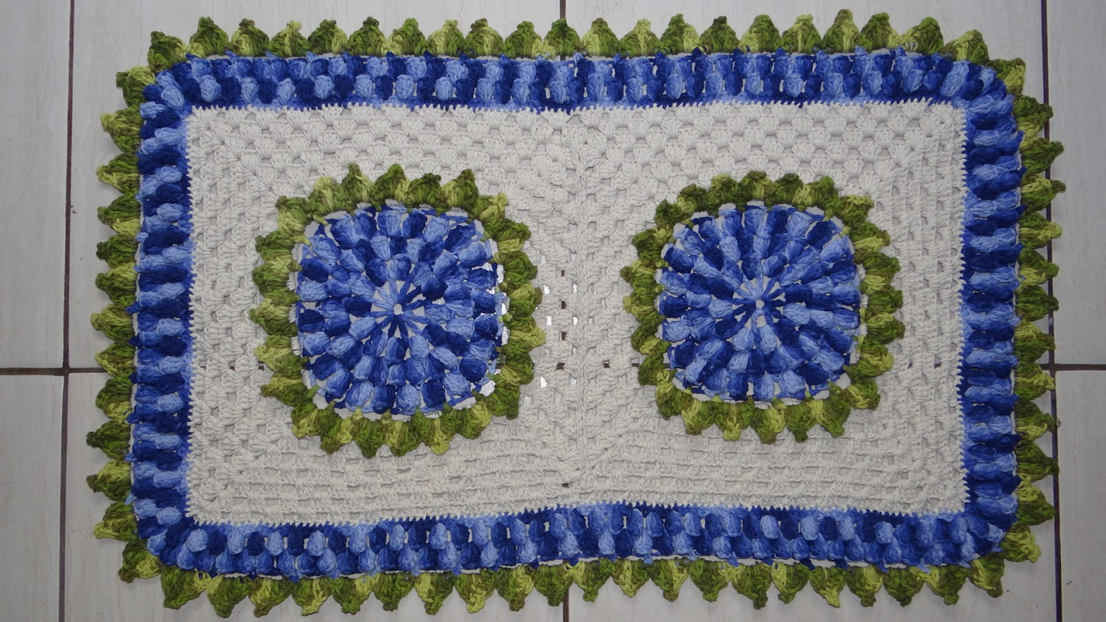 Passo A Passo Tapete Retangular Em Croch Ateli Do Croch  -> Tapete De Croche Redondo Passo A Passo
