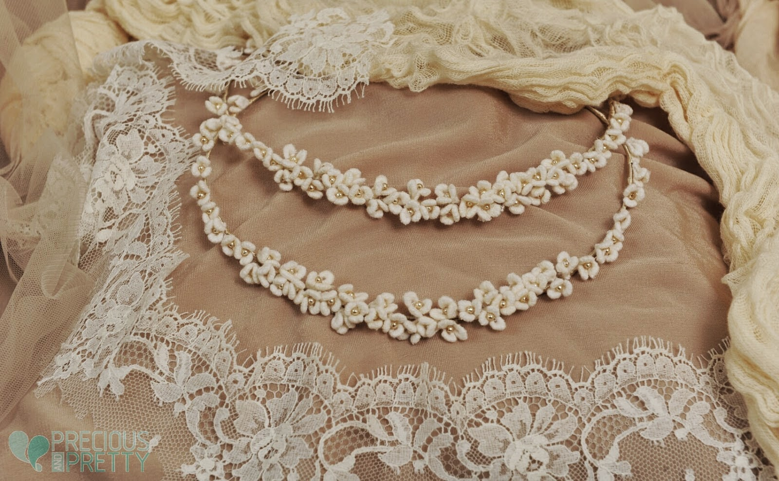 Wedding stefana crowns fabric flowers