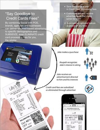 Principe des frais de cartes de crédit avec Koupah