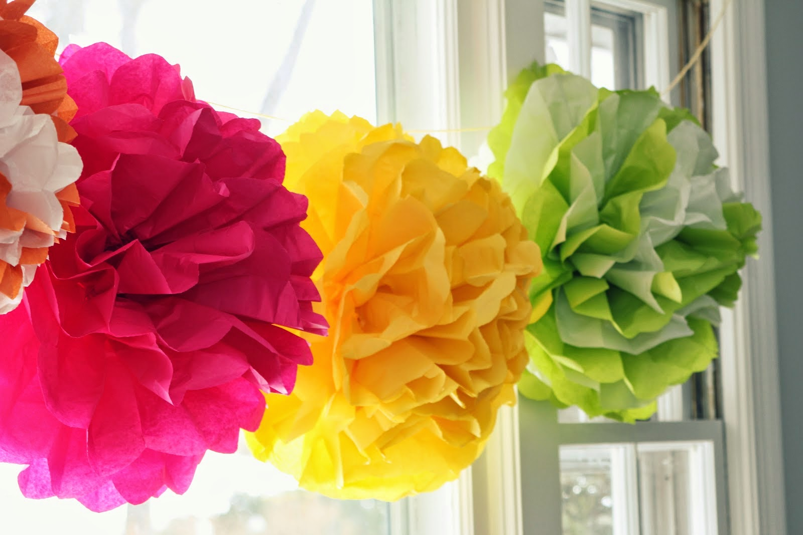 My Own Party Ideas Diy Tissue Pom Poms