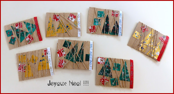 Carte de Noël en maternelle