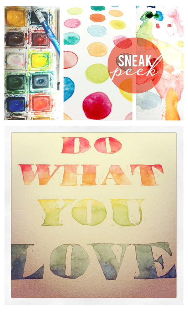 dow what you love, rainbow quote, rainbow, watercolor quote, watercolor, quote, painted quote, painted, paint, watercolor words, watercolor letters, watercolor instagram, instagram, paint pallette, paint palette, maria filar, illustration, hand lettering, lettering, 30x30, ann arbor 30x30